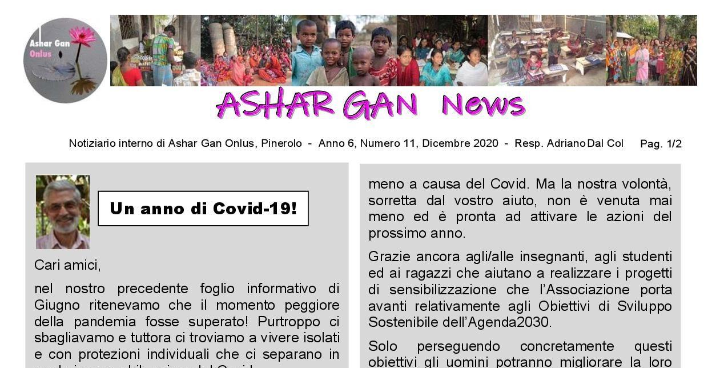 Ashar Gan News – Anno 6, Numero 11, Dicembre 2020