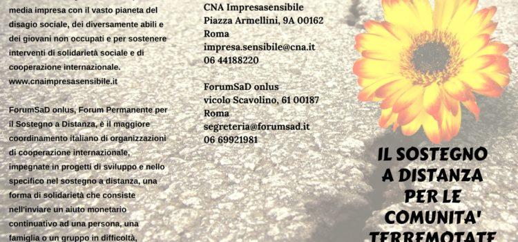 Il Sostegno a Distanza per le comunità terremotate del Centro-Italia
